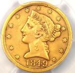 1849 D LIBERTY GOLD HALF EAGLE $5   PCGS XF DETAILS    DAHLONEGA GOLD COIN