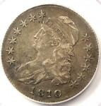 1810 CAPPED BUST HALF DOLLAR 50C   PCGS XF40  EF40     DATE   CERTIFIED COIN