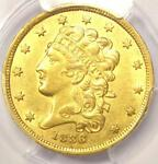 1836 CLASSIC GOLD HALF EAGLE $5   PCGS AU DETAIL    CERTIFIED GOLD COIN