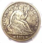 1874 S ARROWS SEATED LIBERTY HALF DOLLAR 50C   PCGS XF DETAILS    COIN