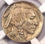 1937 D 3 LEGS BUFFALO NICKEL 5C  THREE LEGGED    NGC XF DETAIL  EF     COIN