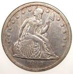 1869 SEATED LIBERTY SILVER DOLLAR $1   ANACS XF DETAILS / NET VF30    COIN