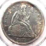 1872 SEATED LIBERTY SILVER DOLLAR $1 COIN   CERTIFIED PCGS XF DETAILS  EF