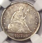 1875 CC TWENTY CENT PIECE 20C   NGC AU DETAILS    CARSON CITY COIN