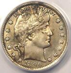 1896 O BARBER QUARTER 25C   ANACS AU50 DETAILS    DATE   CERTIFIED COIN