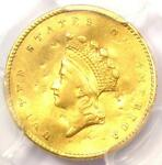 1855 TYPE 2 INDIAN GOLD DOLLAR  G$1 COIN    CERTIFIED PCGS XF DETAIL    DATE