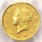 1850 LIBERTY GOLD DOLLAR G$1   CERTIFIED PCGS AU DETAILS     DATE COIN