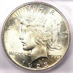 1923 S PEACE SILVER DOLLAR $1   CERTIFIED ICG MS64    IN MS64   $375 VALUE