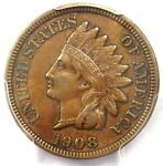 1908 INDIAN CENT PENNY MPD FS 302 S 9   PCGS XF45    VARIETY   $525 VALUE