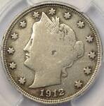 1912 S LIBERTY NICKEL 5C   PCGS FINE DETAILS    KEY DATE CERTIFIED COIN