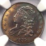 1835 CAPPED BUST DIME 10C JR 4   CERTIFIED NGC UNCIRCULATED DETAILS  UNC BU