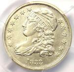 1833 CAPPED BUST DIME 10C   PCGS AU DETAILS    EARLY DATE   CERTIFIED COIN