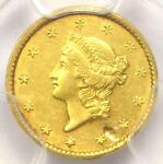 1851 C LIBERTY GOLD DOLLAR G$1   PCGS AU DETAILS     CHARLOTTE COIN