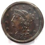 1849 BRAIDED HAIR LARGE CENT 1C   PCGS UNCIRCULATED DETAILS    MS UNC PENNY