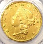 1870 LIBERTY GOLD DOUBLE EAGLE $20   PCGS AU DETAILS    DATE COIN IN AU