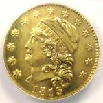 1813 CAPPED BUST GOLD HALF EAGLE $5   CERTIFIED ANACS XF40 DETAILS    COIN
