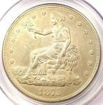 1875 CC TRADE SILVER DOLLAR T$1   CERTIFIED PCGS UNCIRCULATED DETAILS  MS UNC