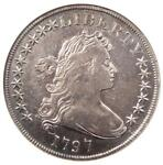 1797 DRAPED BUST SMALL EAGLE SILVER DOLLAR $1   ANACS VF DETAILS    COIN