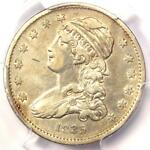 1835 CAPPED BUST QUARTER 25C   PCGS XF DETAILS  EF     EARLY DATE COIN