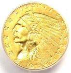 1912 INDIAN GOLD QUARTER EAGLE $2.50 COIN   CERTIFIED ICG MS63   $1 220 VALUE