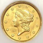 1851 LIBERTY GOLD DOLLAR COIN G$1   NGC MS62    BU CERTIFIED GOLD COIN
