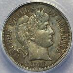 1916 BARBER DIME ANACS XF40   NICE SURFACES    DOUBLEJCOINS    160 34