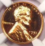 1951 PROOF LINCOLN WHEAT CENT 1C   NGC PR66 RD CAMEO  PF66 CAM    $800 VALUE