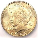 1934 D PEACE SILVER DOLLAR $1   CERTIFIED ICG MS62    UNC BU COIN