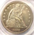 1872 S SEATED LIBERTY SILVER DOLLAR $1   ANACS XF40 DETAILS  EF     S MINT