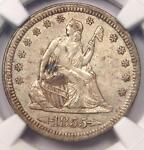 1855 ARROWS SEATED LIBERTY QUARTER 25C   NGC AU DETAILS    TYPE COIN