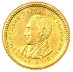 1904 LEWIS & CLARK GOLD DOLLAR G$1   ANACS AU DETAILS    CERTIFIED COIN