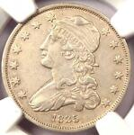 1835 CAPPED BUST QUARTER 25C   NGC AU DETAILS    EARLY DATE COIN IN AU
