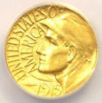 1915 S PANAMA PACIFIC GOLD DOLLAR  G$1 COIN    CERTIFIED ANACS AU50 DETAILS