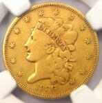 1836 CLASSIC GOLD HALF EAGLE $5   NGC VG DETAIL    CERTIFIED GOLD COIN