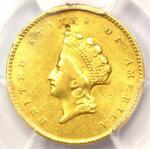 1855 O TYPE 2 INDIAN GOLD DOLLAR  G$1 COIN    PCGS XF DETAILS