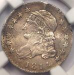 1814 CAPPED BUST DIME 10C JR 3   NGC XF DETAIL  EF     EARLY CERTIFIED COIN