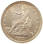 1877 TRADE SILVER DOLLAR T$1   ANACS XF DETAILS  EF     CERTIFIED COIN