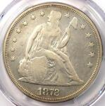 1872 SEATED LIBERTY SILVER DOLLAR $1   PCGS VF DETAILS    CERTIFIED COIN