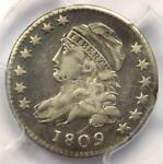 1809 CAPPED BUST DIME 10C   CERTIFIED PCGS VF DETAIL    DATE COIN