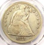 1871 SEATED LIBERTY SILVER DOLLAR $1   PCGS VF30    CERTIFIED COIN