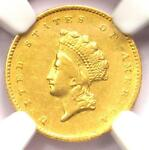 1855 O TYPE 2 INDIAN GOLD DOLLAR  G$1 COIN    NGC AU DETAILS