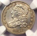 1834 CAPPED BUST DIME 10C   NGC AU DETAILS    EARLY DATE   CERTIFIED COIN