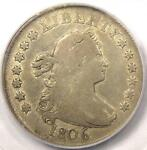 1806 DRAPED BUST QUARTER 25C   PCGS F15    EARLY DATE COIN   $1 375 VALUE