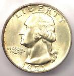 1951 D WASHINGTON QUARTER 25C   CERTIFIED ICG MS67   $350 GUIDE VALUE IN MS67