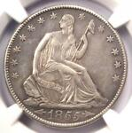 1855 O ARROWS SEATED LIBERTY HALF DOLLAR 50C   NGC AU DETAILS    COIN