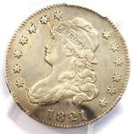 1821 CAPPED BUST QUARTER 25C   CERTIFIED PCGS XF DETAILS  EF     DATE COIN