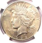1928 PEACE SILVER DOLLAR $1   NGC AU DETAILS    1928 P KEY DATE COIN