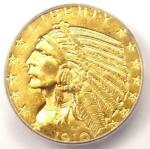 1910 D INDIAN GOLD HALF EAGLE $5 COIN   ICG MS63    IN MS63   $2 380 VALUE