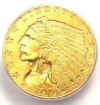 1914 D INDIAN GOLD QUARTER EAGLE $2.50 COIN   ICG MS64  PLUS GRADE   $2500 VALUE