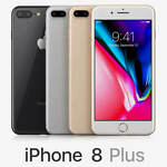 Apple iPhone 8 Plus 256GB GSM (Unlocked) smartphone A + 3 Month Service Plan